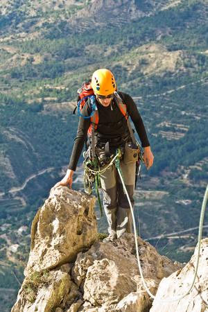 Escalada en el Puig Campana